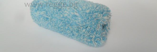 Acryl-Farbwalze 18cm, langflorig,mit Unterlage, blau  80091